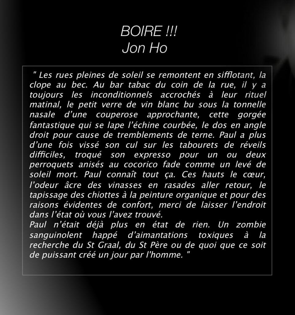 Boire / Jon Ho
